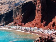 Santorini's Red Beach in Greece