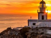 Sunset from the Akrotiri lighthouse