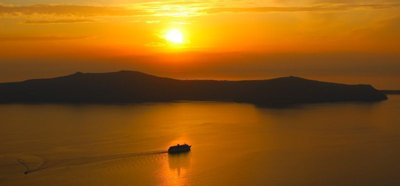 Spectacular Sunset in Santorini