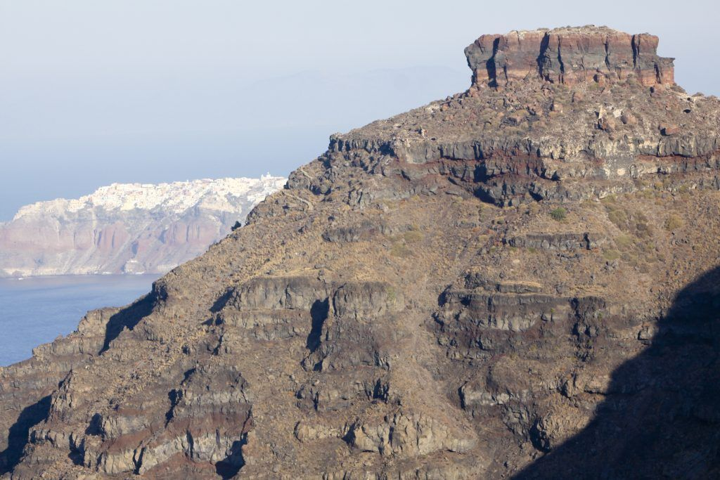 The Skaros rock in Imerovigli, Santorini