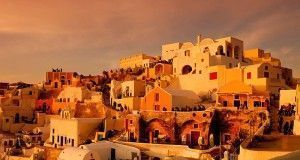 The capital of Santorini, Fira