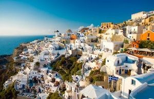 Oia, the best sunset in Santorini