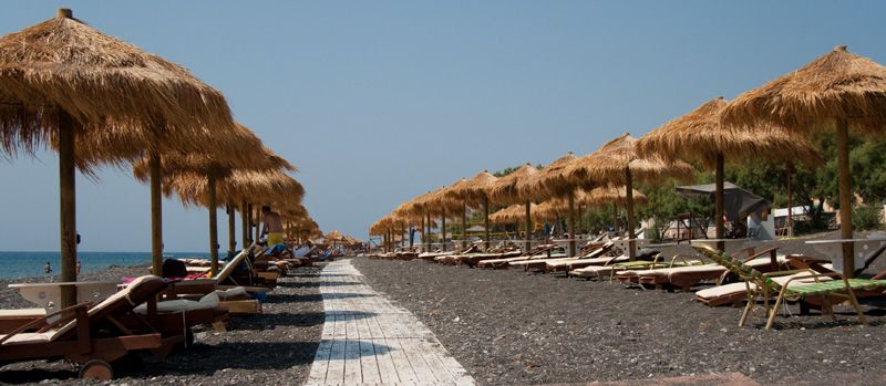 The Perissa Beach, Santorini Island