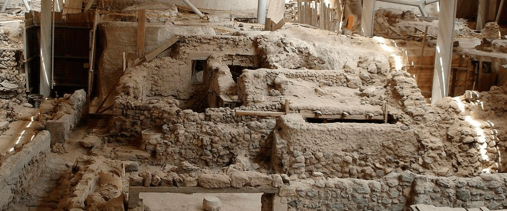 Ruins of Akrotiri in Santorini