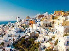 Summer view of the village of Oia in Santorini
