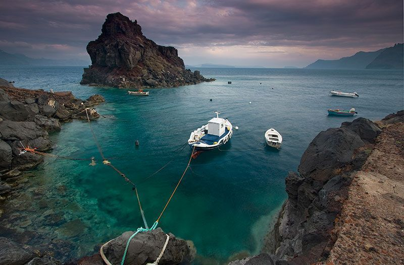 Diving on Santorini Island
